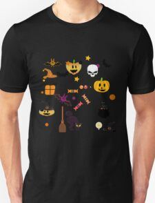 Halloween! skull, pumpkin, cat, candle, boiler witches and more T-Shirt