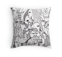 stupid drawing Throw Pillow