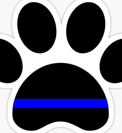 paw thin blue line Sticker