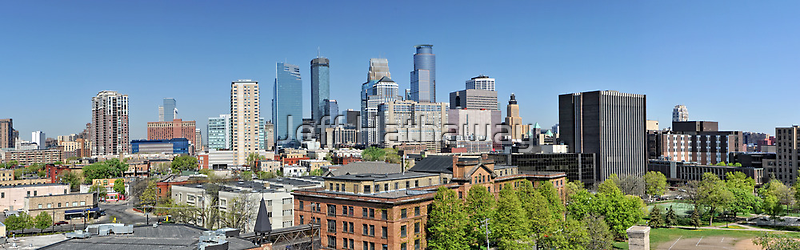 Minneapolis Minnesota downtown panorama by Jeff Hathaway