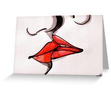 the tender kiss Greeting Card