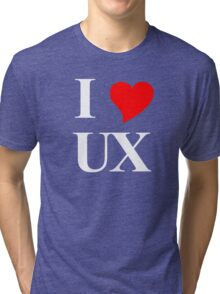 I Heart UX Tri-blend T-Shirt