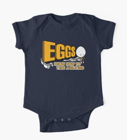 Eggs Know How to Take a Beating | Funny Slogan One Piece - Short Sleeve
