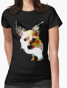 Terrier dog logo Womens Fitted T-Shirt