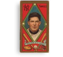 Benjamin K Edwards Collection John Quinn New York Yankees baseball card portrait Canvas Print
