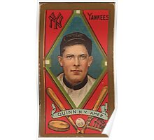 Benjamin K Edwards Collection John Quinn New York Yankees baseball card portrait Poster