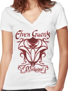 Elven Guards of Mirkwood The Lord of the Rings Women's Fitted V-Neck T-Shirt