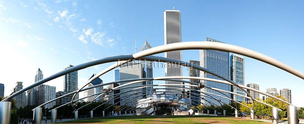 Millennium Park Chicago Panorama by Jeff Hathaway