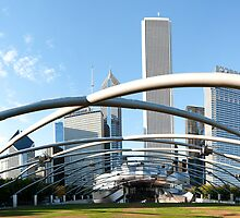 Millennium Park Chicago Panorama by Jeff Hathaway