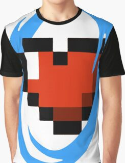 Portal Lover ! Blue Graphic T-Shirt