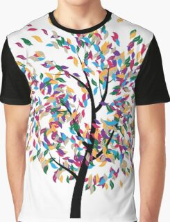 Colorful Tree 3 Graphic T-Shirt