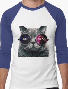 Phi Sigma Sigma Galaxy Cat Men's Baseball ¾ T-Shirt
