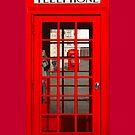 London Phone Box iPhone/iPod Case by CalumCJL