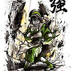 Toph from Avatar with sumi and watercolor by Mycks