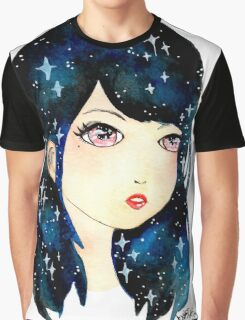 Starry-eyed in space  Graphic T-Shirt