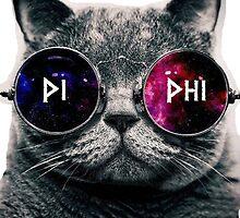 Pi Beta Phi Galaxy Cat by mickeysofine14