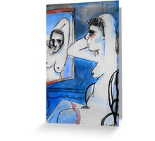 nude with mirror Greeting Card