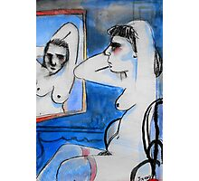 nude with mirror Photographic Print
