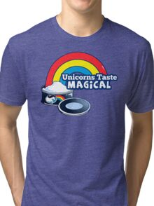 Magically Delicious | Funny Unicorn Shirt Tri-blend T-Shirt