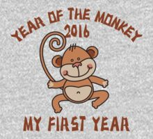 Born 2016 Year Of The Monkey Baby Tee