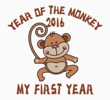 Born 2016 Year Of The Monkey Kids Clothes