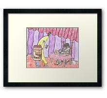 Clownvis The Fortune Teller Framed Print