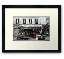 A Parisian Flower Shop Framed Print