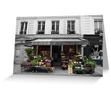 A Parisian Flower Shop Greeting Card