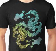 Dragons Blow   Chinese Dragon Yin Yang Unisex T-Shirt