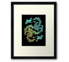 Dragons Blow | Chinese Dragon Yin Yang Framed Print