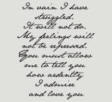 PRIDE AND PREJUDICE JANE AUSTEN MR. DARCY ENGAGEMENT SPEECH  by fandomfashions