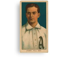 Benjamin K Edwards Collection Jimmy Dygert Philadelphia Athletics baseball card portrait 001 Canvas Print