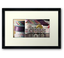 Dotty Diptych Framed Print