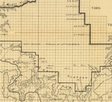 Vintage Map of The Grand Canyon (1908) Sticker