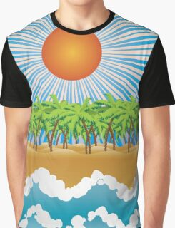 Sunny tropical island Graphic T-Shirt