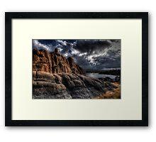 Storms Edge Framed Print