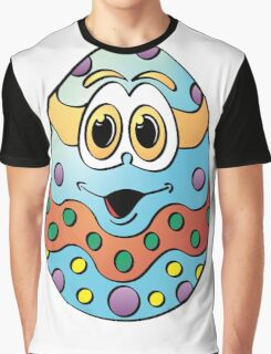 Blue Easter Egg C Cartoon Graphic T-Shirt