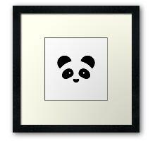 Panda minimalism Framed Print