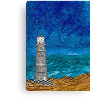Seascape with Lighthouse Canvas Print