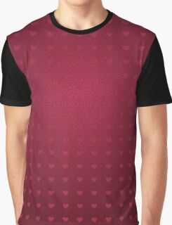 Abstract hearts background Graphic T-Shirt