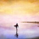 Sunset Surf  by Annette Blattman