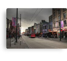 Entertainment street Canvas Print