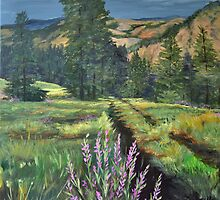 Thunder Rolling on The Mountain - The Wallowa's by Victoria Mistretta