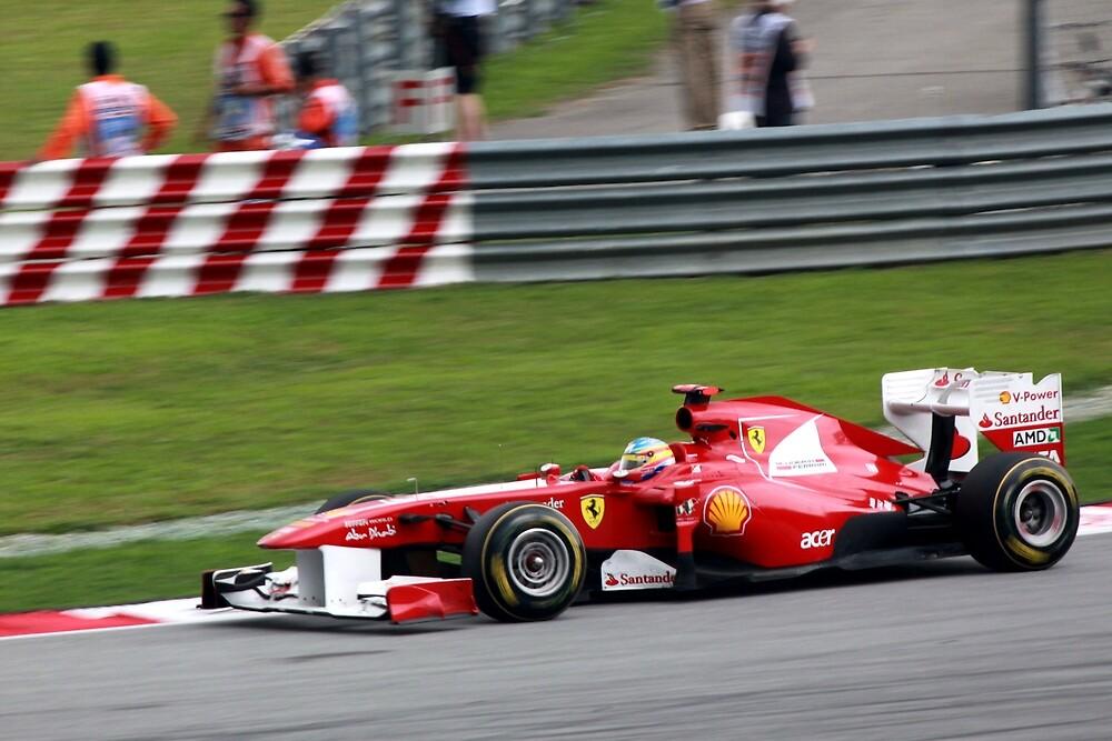 Fernando Alonso in his Ferrari  by 3rdeyelens
