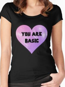 YOU ARE BASIC Women's Fitted Scoop T-Shirt