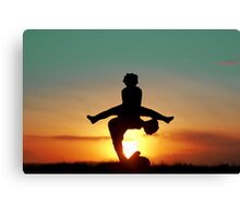 2012 Leap Year Sunset Canvas Print