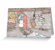 Snowman Suicide Greeting Card