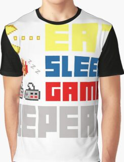 Eat. Sleep. Game. Repeat. Graphic T-Shirt