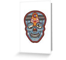Red Rocks Sugar Skull Greeting Card