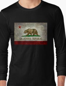 California Republic state flag - Vintage retro version Long Sleeve T-Shirt
